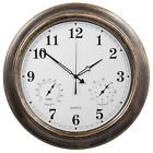 SkyNature 18 Inch Large Outdoor Wall Clock Waterproof with Temperature and Humid