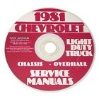 1981 Chevrolet Truck Chassis and Overhaul Service Manual CD