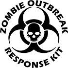 Zombie Outbreak Response Kit Skull Vinyl Car Window Laptop Decal Sticker