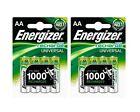 8 x Energizer AA Rechargeable Batteries 1300 mAh NiMH