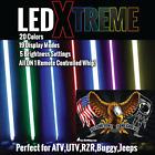 4' LED Xtreme Whip 20 colors WIRELESS REMOTE- Eagle Flag ATV UTV RZR