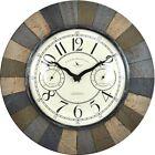 FirsTime 15.5 in. Slate Garden Natural Stone Accent Clock Versatile Timepiece