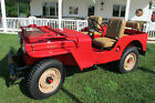 1948 Willys Red 1948 Willys CJ2A