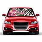 Flower Leopard Sunshade-Pink Hibiscus ding Accordion with Anti Glare-19198-14