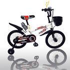 "New 16"" Children Boys Kids Bike Bicycle With Training Wheels Steel Frame"