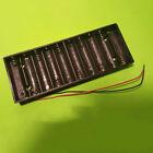 Black Plastic Shell Batteries Holder Box for 10 x 1.5V AA Battery