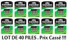 Lot of 40 Battery Camélion Super Heavy Green AAA LR03 price broken