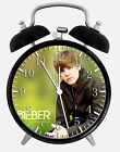 "Justin Bieber Alarm Desk Clock 3.75"" Room Decor X11 Nice for Gifts wake up"