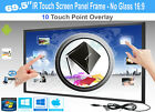 """LCD/LED 10 Touch IR Overlay Touch Screen Frame Panel 69.5"""" - No Glass 16:9"""