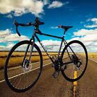 700C Aluminum 21 Speed Road/Commuter Bike Racing Bicycle Black LM