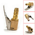 New Car Tire Inflator Valve Connector Air Chuck Brass 6mm Clip On 1/4'' Copper