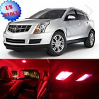 18Pcs Super RED Interior Package LED Light Combo For 2010-2013 Cadillac SRX US