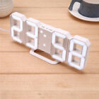8 Shaped Digital LED 24 or 12 Hour Wall Clocks Snooze Function with USB Charging