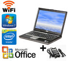 Dell Laptop D620 D630 1.83Ghz 2/4GB RAM 160GB HDD Windows 7 Pro and Office 2016