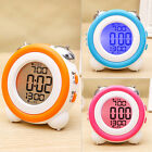 Digital LED Round Alarm Clock Desk Display date, time, temperature and humidity
