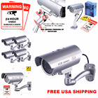 Dummy Fake Security Camera Indoor Outdoor CCTV Safe with LED Light Warning home
