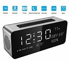 Soundance 12W Large Screen Digital Radio Alarm Clock Bluetooth Speaker with prem