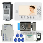Home 7 Color Video Door Phone Intercom Kit 1 RFID Access Camera Monitor Rfid