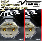 2 Titanium Look Vibe DB6 Non Fused Distribution Block 6 way, 2 x 4 AWG 4 x 8 AWG