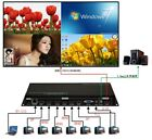New 1*VGA 2*DP 4*HDMI Quad HD Video Multi-viewer Processor 1080P With PIP POP