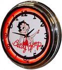 "Retro Nostalgic 17"" Red Neon Betty Boop Game Room Novelty Wall Clock NEW"