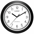 "404-1236 La Crosse Technology 13.5"" Analog Atomic Black Frame Clock"