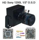 "GN-1382  HD1080 1200TVL 1/3"" SONY 2.8-12mm Manual Focus Zoom Lens  Camera O.S.D"