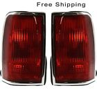 Tail Lamp Lens and Housing Set of 2 Pair LH & RH Side Fits Lincoln Town Car