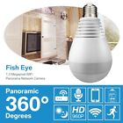 360° Wifi Panoramic 1080P Wireless Fisheye Security Hidden Camera LED Light Bulb