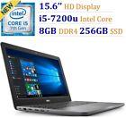 "Dell Inspiron I5567-5274GRY 15.6"" HD I5-7100u 2.5GHz 8G DDR4 256G SSD Win10"