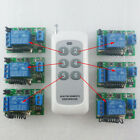 12V 433MHz RF Delay Time Wireless 1 pcs 6 buttons Remote control 6 pcs Receiver