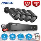 ANNKE 2TB 8CH 1080P Lite CCTV DVR Home 4x 960P Outdoor Security Camera System HD