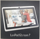 TABLET LUX PAD STREAM 7 QUAD CORE VIDEO MUSIC 8GB DUAL CAMERA SILVER