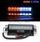 20000x 12V 8 LED Flash Beacon Strobe Warning Light Car Truck Amber/White