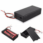 HK- DC Holder Storage Box Case ON/OFF Switch Wire for 3.7V 2 x 18650 Battery Sho