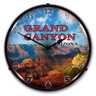 Nostalgic Vintage Style Grand Canyon Backlit Lighted Wall Clock Man Cave Sign