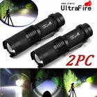 2PCS Ultrafire 8000Lumen CREE XM-L T6 LED Flashlight Torch Super Bright Light QT