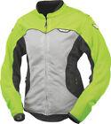 FLY STREET - Women's FLUX AIR Mesh Motorcycle Jacket (Hi-Vis/Silver) Choose Size