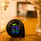 LED Digital Indoor Weather Forecast Temperature Humidity Monitor Alarm Clock Hot