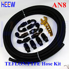 AN8 8AN 08 TEFLON FUEL LINE E85 PTFE OIL HOSE FITTING END ADAPTER+Wrench Spanner