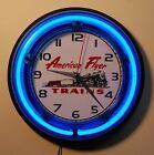 AMERICAN FLYER LINES  neon wall clock
