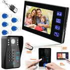 "7"" Inch LCD Password Video Door Phone Doorbell Intercom System Camera Touch Key"