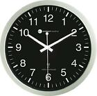 "Wall Clock 12"" Luminous Atomic Radio Controlled Modern Black Miller Big Analog"