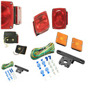 Trailer Tail Red Light Surface Mount And Side Markers with Brackets Wire Kit NEW