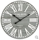 London Wood Framed Wall Clock Classic Style Wooden Industrial Clock