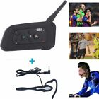 6 Riders Bluetooth Interphone BT Motorcycle Intercom Earhook Earphone Headsets