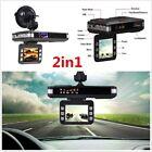 "2.0"" TFT Car Camera DVR Dash Cam Recorder + Radar Laser Speed Detector Alert OY"