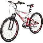 Merax Full Suspension Mountain Bike 21 Speed 26'' Inch Aluminum Frame Bicycle