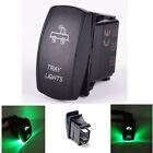 Boat Marine Waterproof Green TRAY Mode Light LED Switch Panel Circuit Breaker
