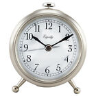 25655 Equity by La Crosse Analog Quartz Alarm Clock with Brushed Metallic Case